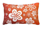 Daisy-on-Fire lumbar pillow