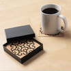 Medallion cork coasters