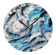 Koi Inverted round wall clock